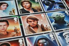 collection postal stamps star wars movie characters luke skywalker centre 61266767 Fenomena Star Wars